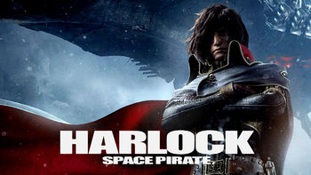 Netflix box art for Harlock: Space Pirate