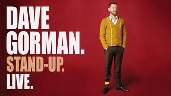 Netflix box art for Dave Gorman Stand-Up. Live.