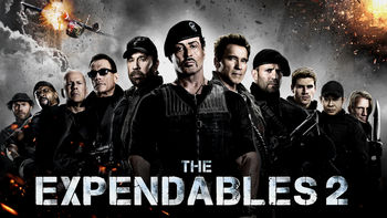 Netflix box art for The Expendables 2