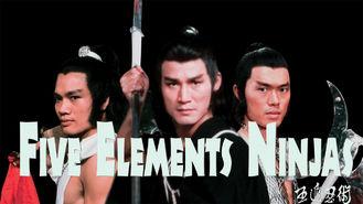 Netflix box art for Five Elements Ninjas