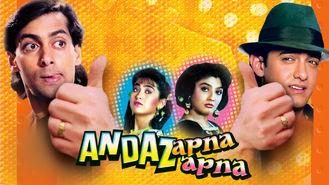 Netflix box art for Andaz Apna Apna