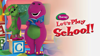 Netflix box art for Barney: Let's Play School