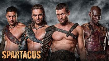 Netflix box art for Spartacus - Season Gods of the Arena
