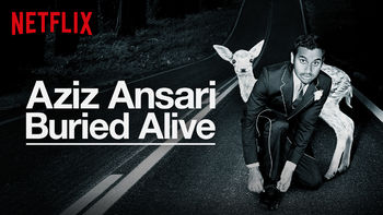 Netflix box art for Aziz Ansari: Buried Alive