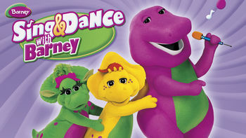 Netflix box art for Barney: Sing & Dance with Barney