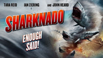 Netflix box art for Sharknado