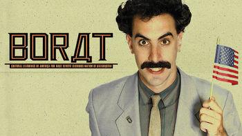 Netflix box art for Borat