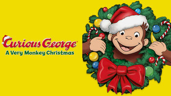 Netflix box art for Curious George: A Very Monkey Christmas