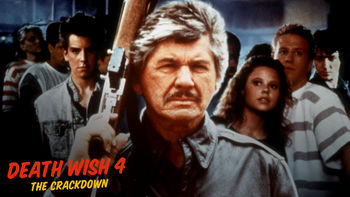Netflix box art for Death Wish 4: The Crackdown