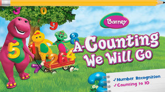 Netflix box art for Barney: A-Counting We Will Go