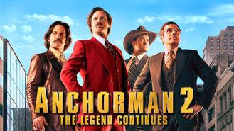 Netflix box art for Anchorman 2: The Legend Continues