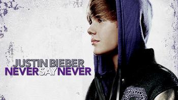 Netflix box art for Justin Bieber: Never Say Never
