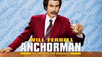 Netflix box art for Anchorman: The Legend of Ron Burgundy