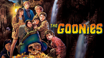 Netflix box art for The Goonies