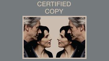 Netflix box art for Certified Copy