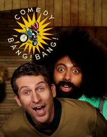 Comedy Bang! Bang!: Season 1: Adam Scott Wears A Red Oxford Shirt & Jeans