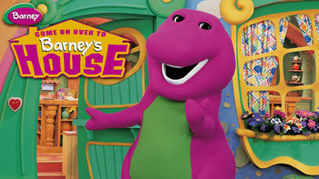 Netflix box art for Barney: Come on Over to Barney's House