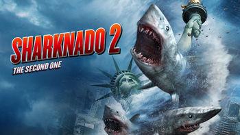 Netflix box art for Sharknado 2: The Second One