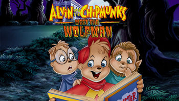 Netflix box art for Alvin and the Chipmunks Meet the Wolfman