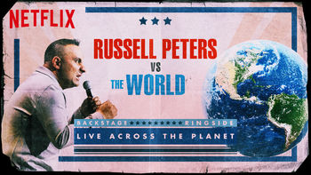 Netflix box art for Russell Peters vs. the World - Season 1